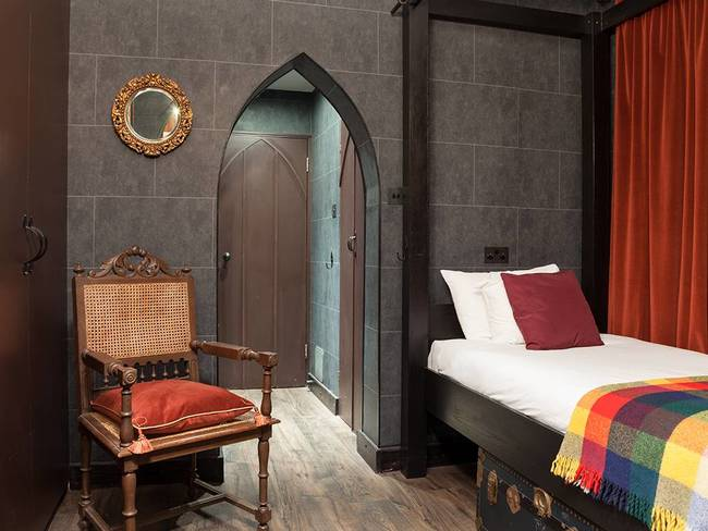 """The Georgian House Hotel places great emphasis on welcoming families and I really wanted to create something fun for young visitors.  When guests arrive we light candles and play music as they enter the Wizard Chambers - it"