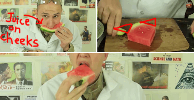 Watermelon: Keep your face clean without sacrificing any yummy melon.