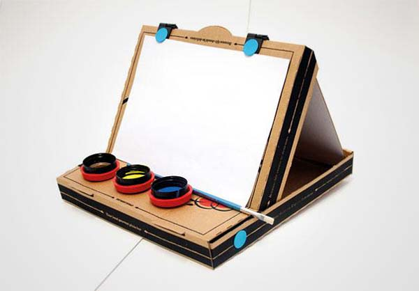 9.) A simple easel for arts and crafts.