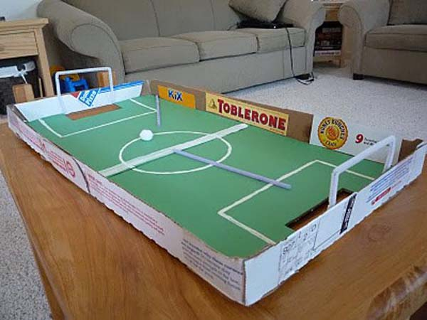 2.) A mini soccer field for indoor fun.